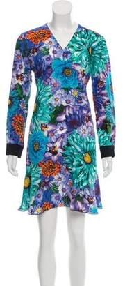 Mary Katrantzou Long-Sleeve Floral Print Dress