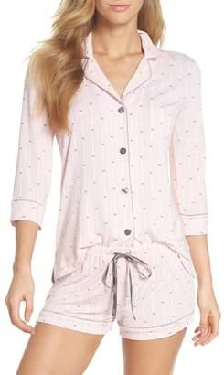 PJ Salvage Modal Three-Quarter Sleeve Short Pajamas