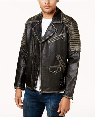 True Religion Men's Leather Moto Jacket