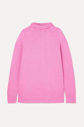 Joseph Sloppy Joe Cotton-blend Turtleneck Sweater - Pink