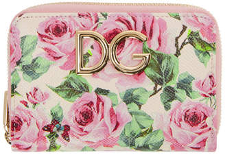 Dolce & Gabbana Pink Rose Compact Wallet