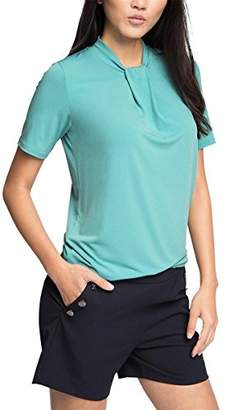 Esprit Women's 036EO1K021-soft Viscose T-Shirt, Grün (Dusty Green 335)