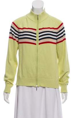 Burberry Knit Zip-Up Sweater