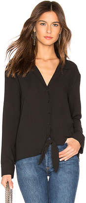 1 STATE Long Sleeve Tie Front Top