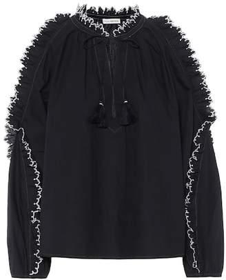 Ulla Johnson Amandine embroidered cotton top