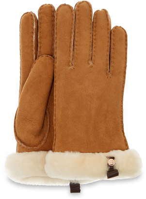 UGG Women's Shorty Glove With Leather Trim