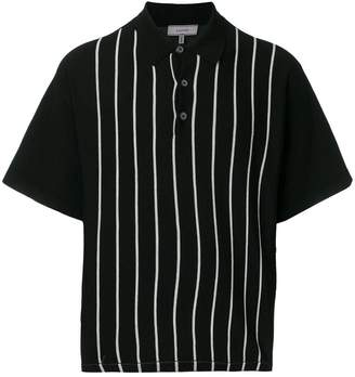 Lanvin striped front polo shirt