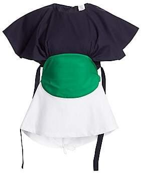Rosie Assoulin Women's Bullseye Cotton Blouse