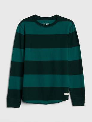 Gap Stripe Waffle-Knit T-Shirt
