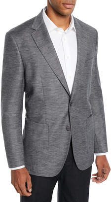 BOSS Men's Heathered Patch-Pocket Blazer Jacket