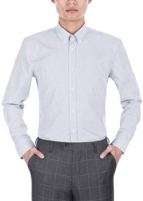 Verno Men's Slim Fit Dress Shirts with Plaid