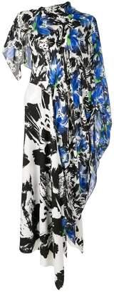 Roland Mouret asymmetric colour-block flared dress