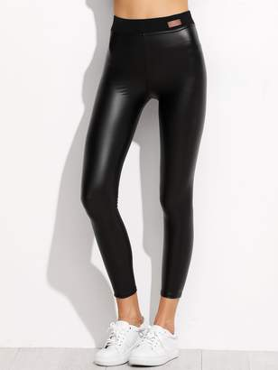 Shein Faux Leather Ankle Leggings