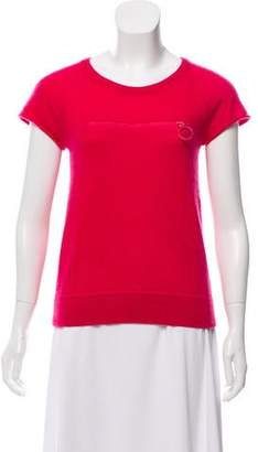 Louis Vuitton Short Sleeve Cashmere Top
