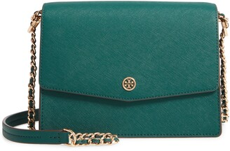 Tory Burch Robinson Convertible Coated Saffiano Leather Shoulder Bag