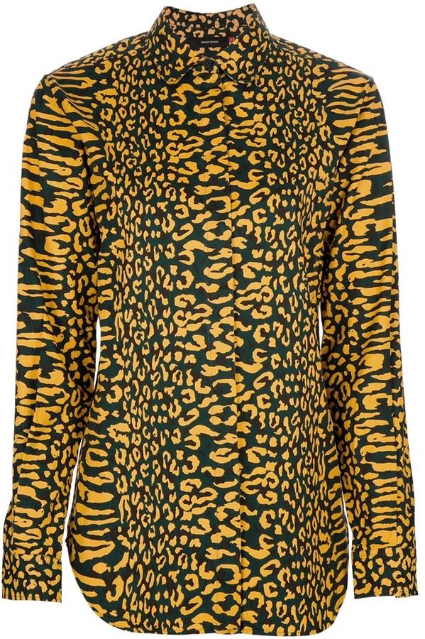 Wood Wood 'Sascha Shirt, Animal Print'