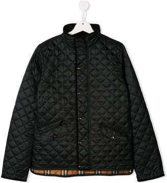 Burberry TEEN Lightweight Diamond Quilted Jacket