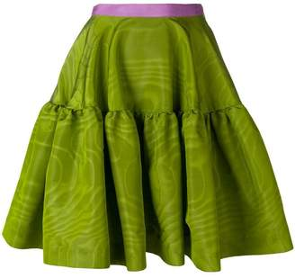 Talbot Runhof tiered A-line skirt