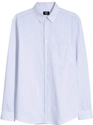 H&M Cotton Shirt Regular fit - White