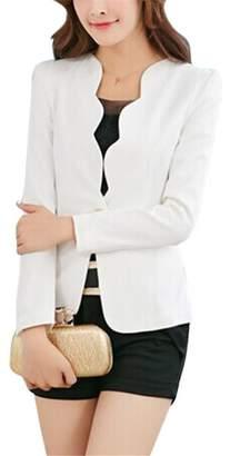 2210e8ee1f2 Michael Palmer Candy Color Slim Suit Jacket Women Casual Ladies Blazers  Business Coat