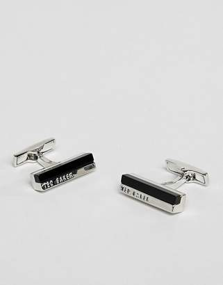 Ted Baker walla stone bar cufflinks in black