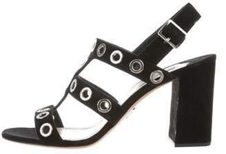 Prada Grommet Slingback Sandals