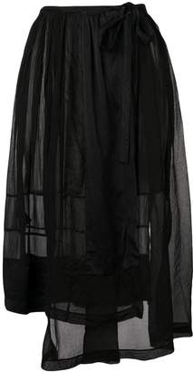 Forte Forte asymmetric sheer skirt