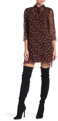 Anna Sui Tie-Front Floral Flowy Dress
