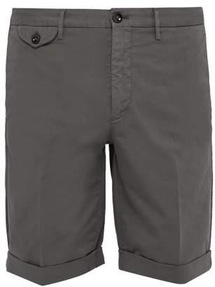 Incotex Batavia Cotton Blend Chino Shorts - Mens - Grey