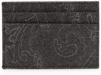 Etro paisley pattern cardholder