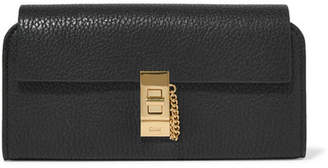 Chloé Drew Textured-leather Wallet - Black