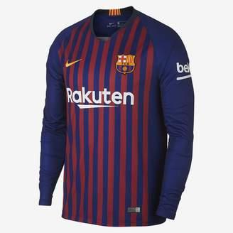 Nike 2018/19 FC Barcelona Stadium Home Men's Long Sleeve Soccer Jersey