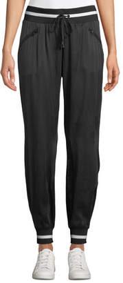 Blanc Noir Natoma Silky Drawstring Jogger Pants