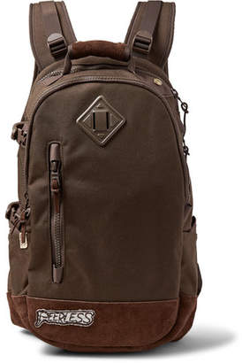 2335f0b9e5b3 Visvim Suede-Trimmed Cordura Nylon Backpack