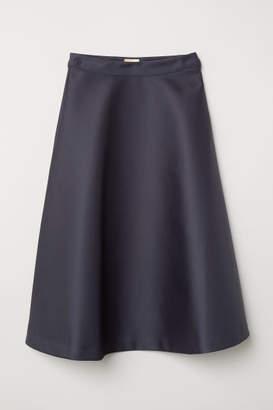 H&M Flared Satin Skirt - Gray