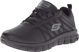Skechers for Work Women's Sure Track Erath Athletic Lace Slip Resistant Boot $75 thestylecure.com