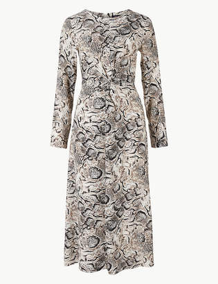 4ca887e2a6a M&S CollectionMarks and Spencer Animal Print Fit & Flare Midi Dress