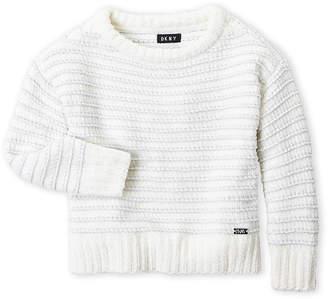 DKNY Toddler Girls) Metallic Stripe Sweater