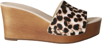 Joie Bodie Haircalf Wedge Sandals $268 thestylecure.com