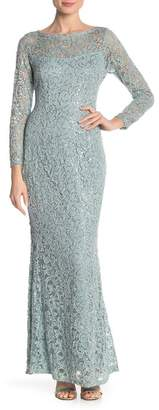 Marina Lace Sequined Long Sleeve Dress