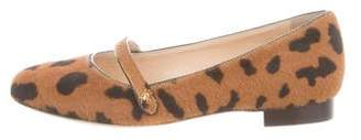 Charlotte Olympia Girls' Printed Ponyhair Flats