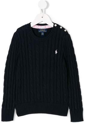 Ralph Lauren logo cable knit jumper