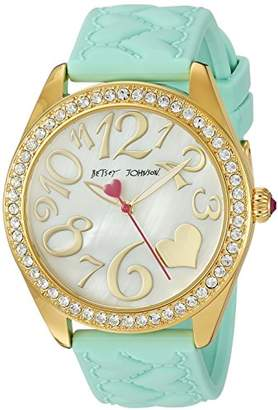Betsey Johnson Women's Quartz Metal and Silicone Casual Watch
