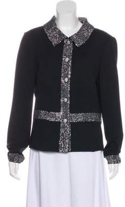 St. John Knit Embellished Jacket Black Knit Embellished Jacket