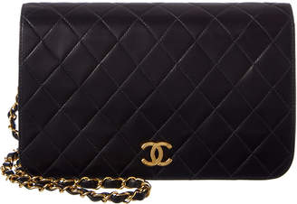 Chanel Black Quilted Lambskin Small Single Flap Bag