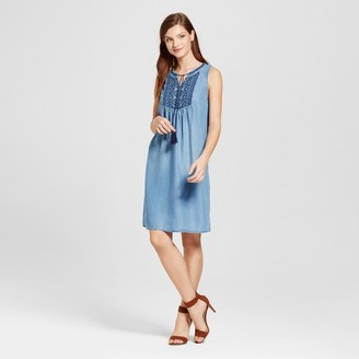 Knox Rose Women's Embroidered Yoke Shift Dress $27.99 thestylecure.com