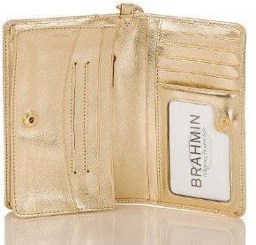 Brahmin Debi Wallet Smooth Gold