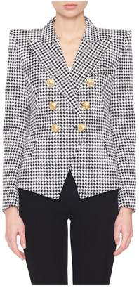 Balmain Houndstooth 6-Button Blazer