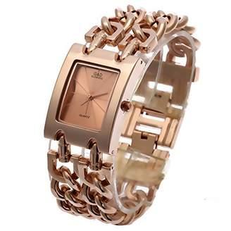 Dolce & Gabbana THE BRAND G&D Women's -Tone Stainless Steel Bracelet Quartz Analog Wrist Watches