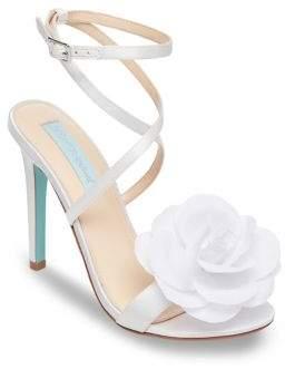 Betsey Johnson Terra Satin Ankle-Strap Sandals